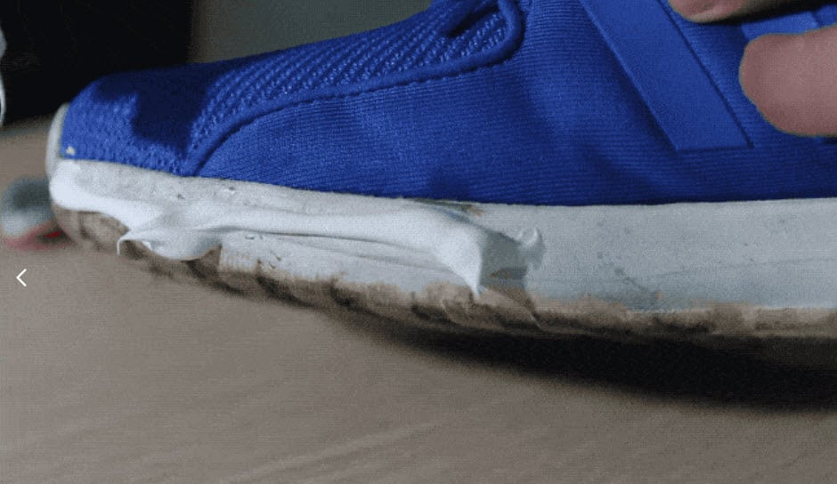 Clean shoes with a magic eraser