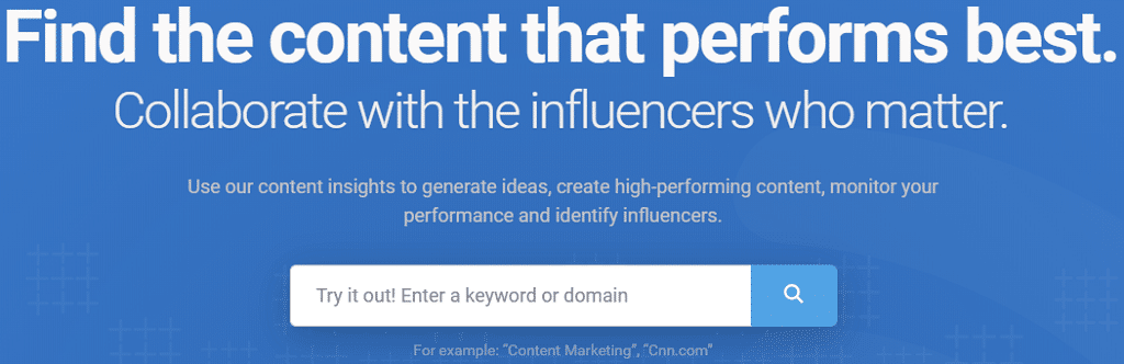 Content Marketing Research Monitoring Find Top Influencers BuzzSumo com