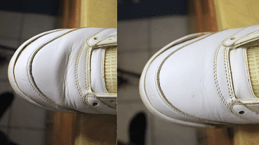 Fix creases with a steam iron