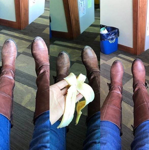 Revitalize leather with a banana peel
