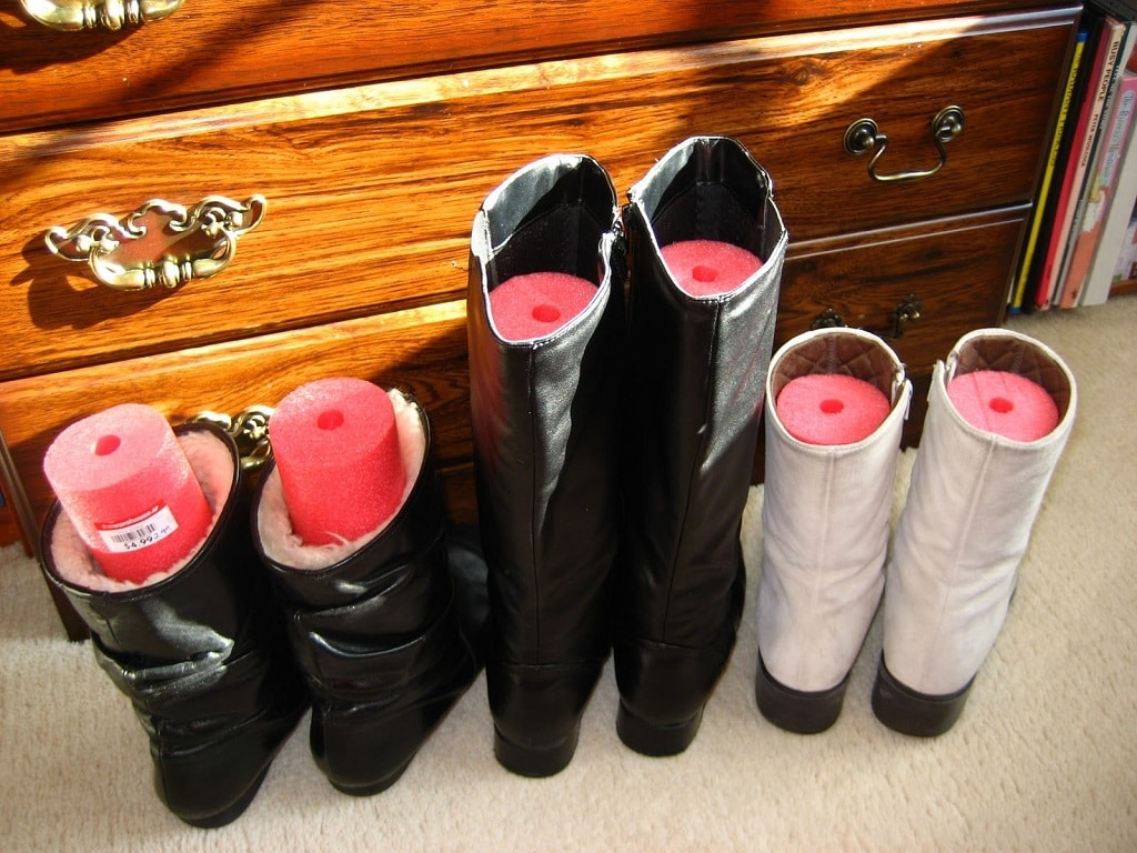 tall boots from falling