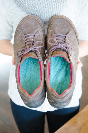 wool into your soles