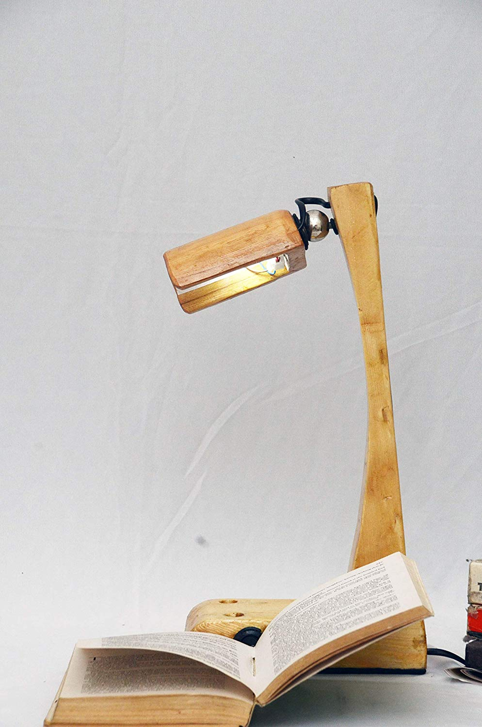 Gorgeous Hand Crafted Wooden Lamp