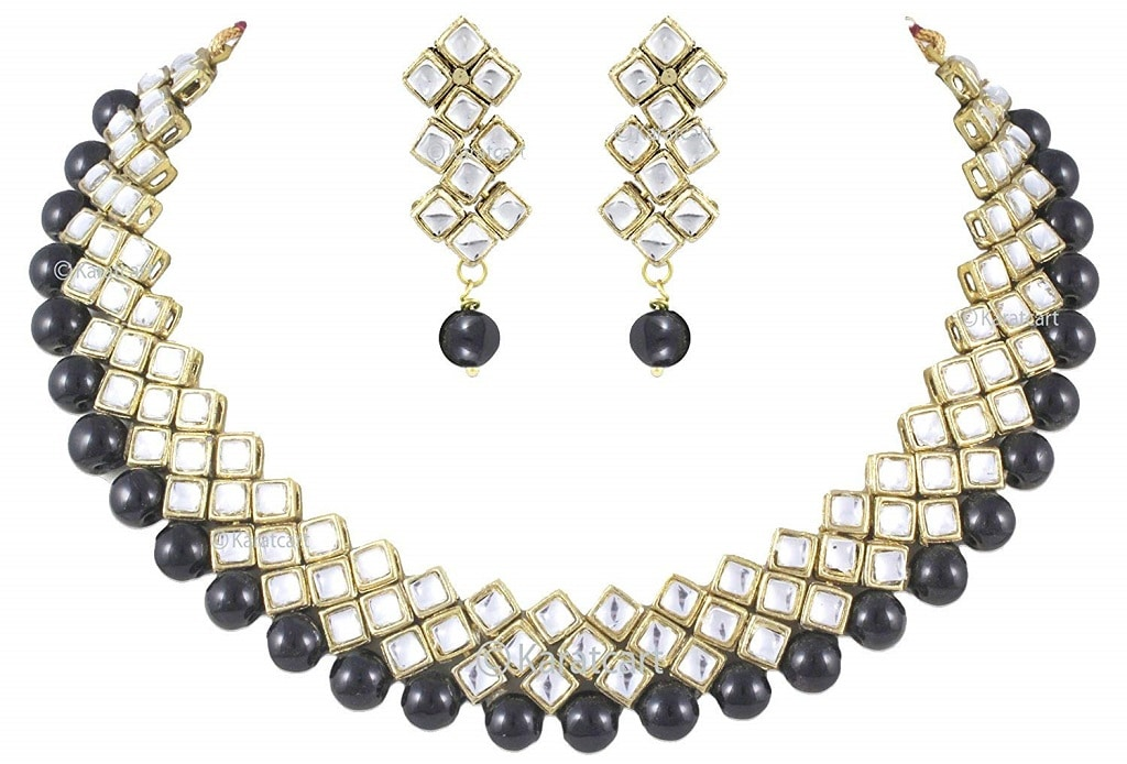 Kundan and Beads Choker Necklace Set