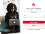 Pinterest create a business account