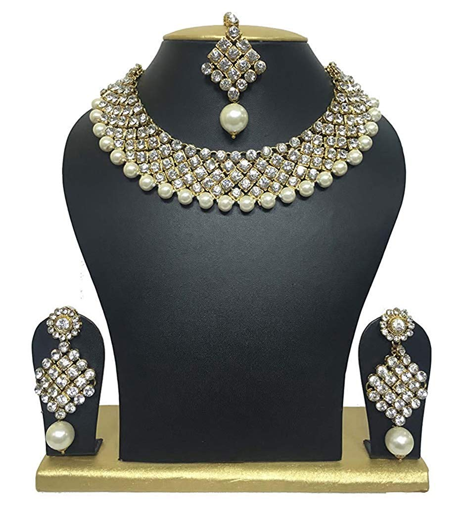 Shining Diva Traditional Jewellery Choker Pearl Necklace Set