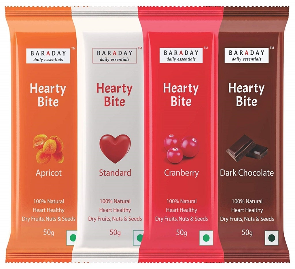 Bar A Day Hearty Bite Natural Super food Energy Bars