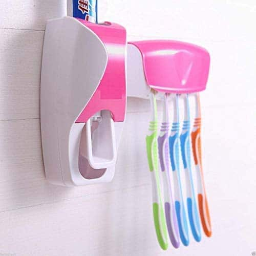 Hand free wall mounted Toothpaste