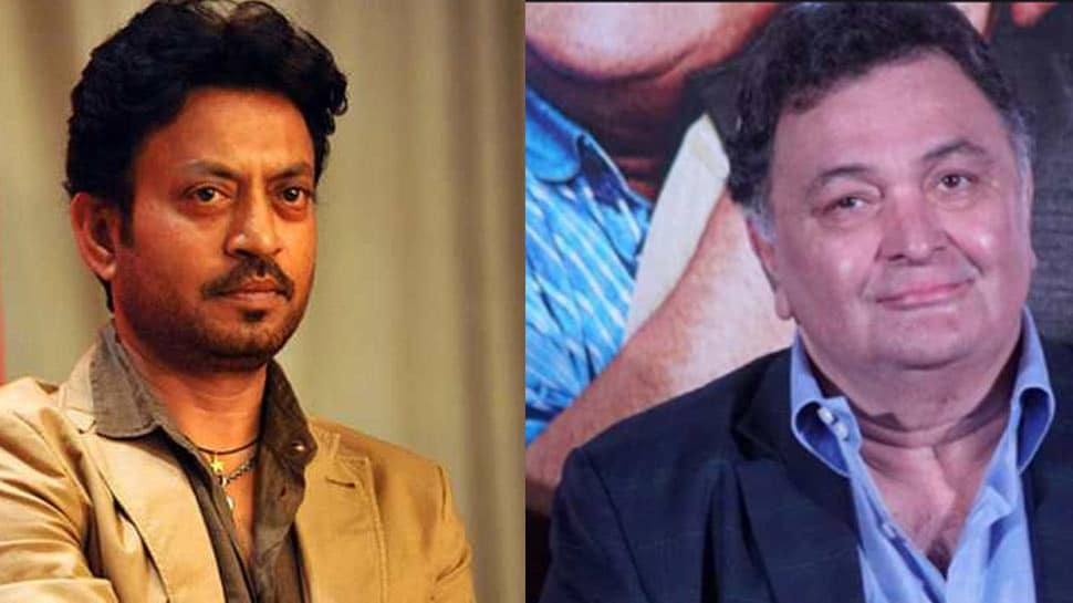 Bollywood film stars Irrfan Khan and Rishi Kapoor