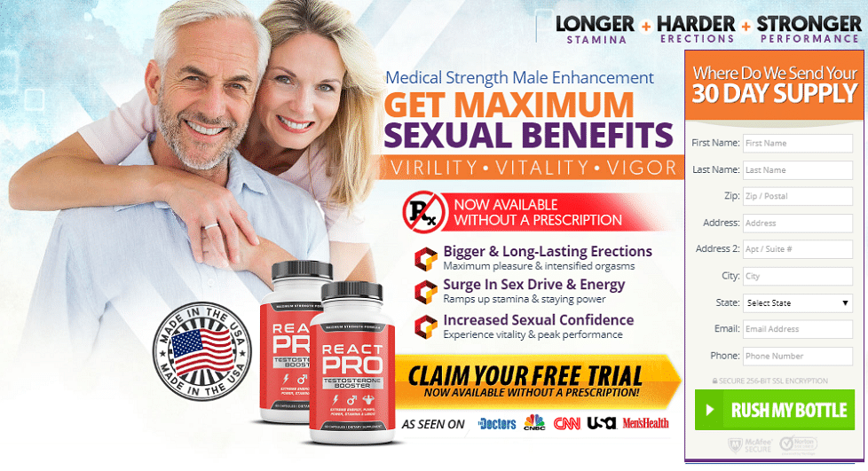 React Pro Testosterone Booster
