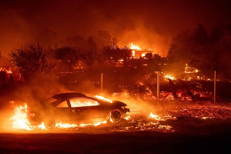 Three Wiped out in Northern California Wildfire Thousands Flee