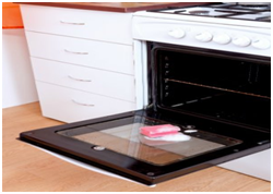 Getting rid of oven odors